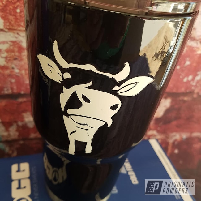 Powder Coating: Custom Cups,Ink Black PSS-0106,Drinkware,Animal,Gloss White PSS-5690,30oz Tumbler
