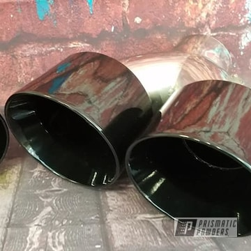 Powder Coated Automotive Exhaust Tips