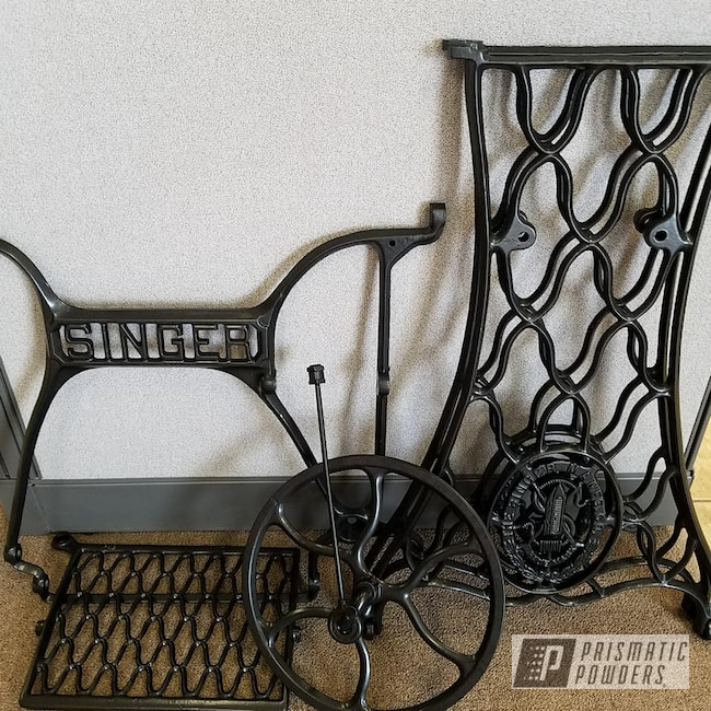 Powder Coating: BLACK JACK USS-1522,Singer,Vintage,Antiques,Sewing Machine