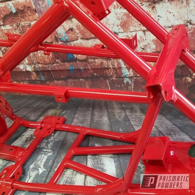 Powder Coating: Passion Red PSS-4783,ATV Frame,ATV,Off-Road