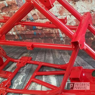 Powder Coated Red Off Road Atv Frame