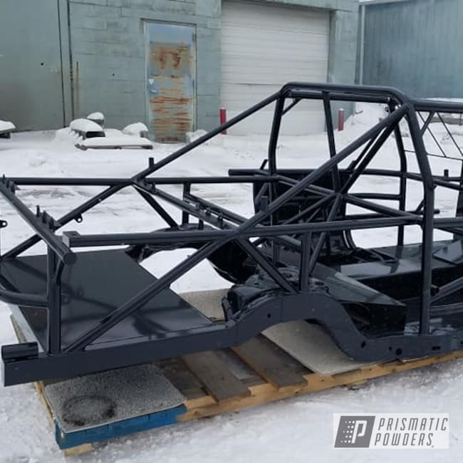Powder Coating: Automotive,Car Frame,Ink Black PSS-0106,Racing,Race Car Chassis