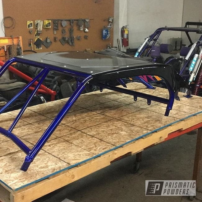 Powder Coating: Shattered Glass PPB-5583,PIZZAZZ BLUE UPB-4677,SUPER CHROME USS-4482,Ink Black PSS-0106,Off-Road,Polaris,RZR