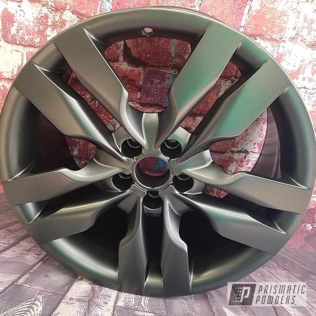 "Powder Coating: Wheels,Automotive,Evo Grey PMB-5969,Custom Wheels,19"" Aluminum Rims"