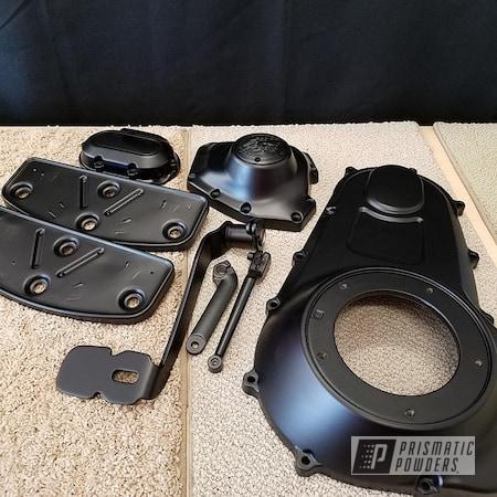 Powder Coating: Harley Davidson,BLACK JACK USS-1522,Motorcycle Parts,Primary Cover,Motorcycles