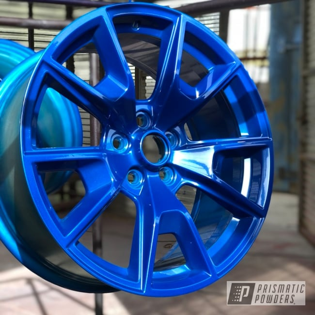 Powder Coated Blue 19 Inch Ford Mustang Wheels