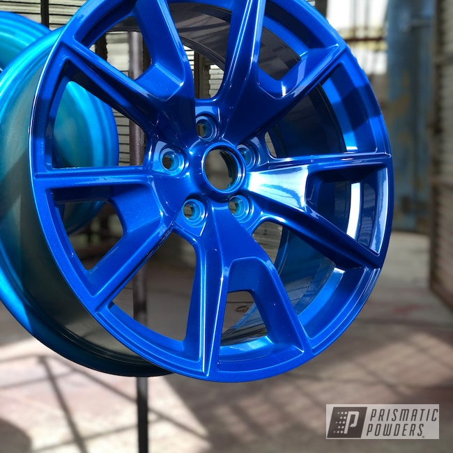"Powder Coating: Sable Royal Blue PMB-2146,Wheels,Automotive,19"" Aluminum Rims,Ford Mustang,Ford"