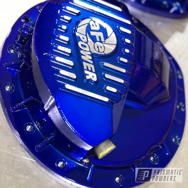 Powder Coating: Automotive,SUPER CHROME USS-4482,LOLLYPOP BLUE UPS-2502,Differential Cover,AFE,Suspension