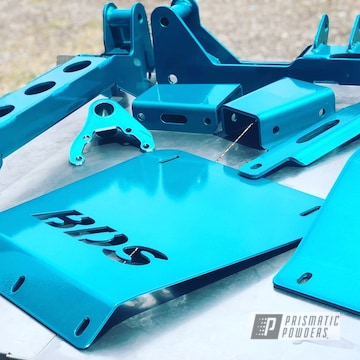 Powder Coated Light Blue Truck Lift Kit