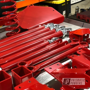 Powder Coated Red Jeep Lift Kit Parts