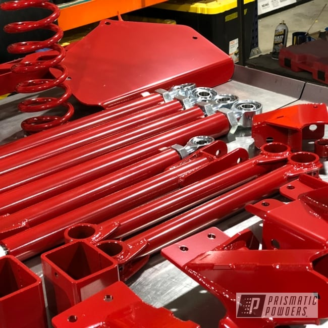 Powder Coating: Automotive,Lift Kit,Fab Tech,Jeep,Very Red PSS-4971,Suspension