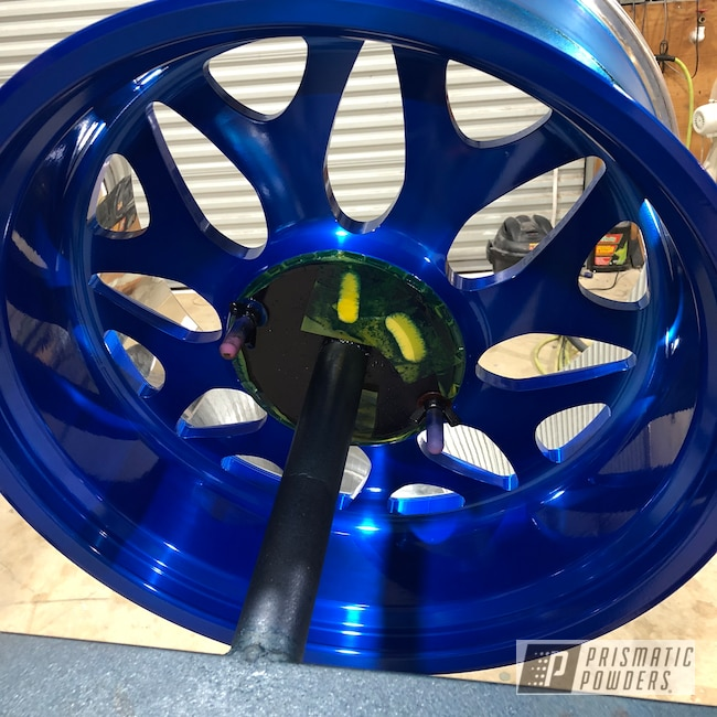 Powder Coating: Wheels,Automotive,Peeka Blue PPS-4351,Powder Coated Wheels,American Force