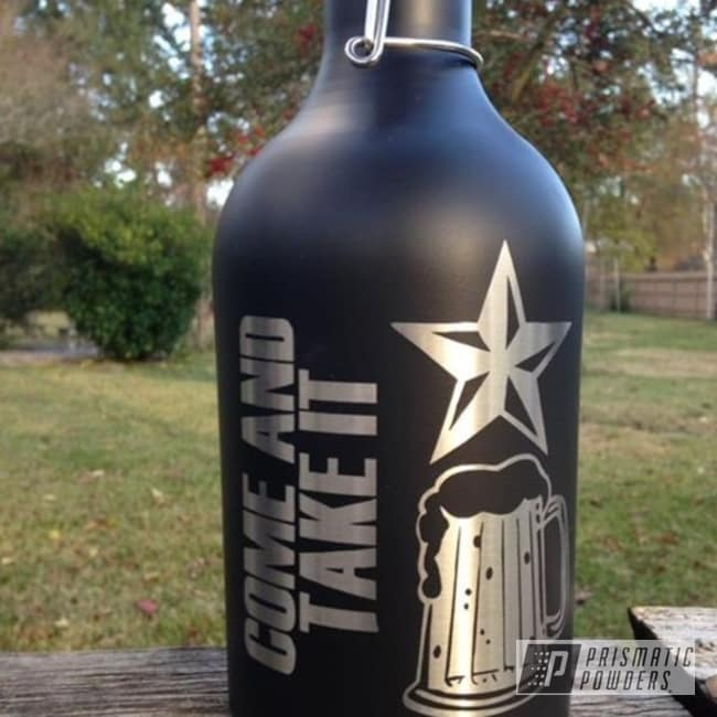 Powder Coating: FLAT BLACK METALLIC UMB-6738,Custom Powder Coating,Come and Beer It,Miscellaneous