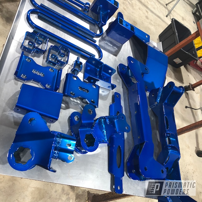 Powder Coating: Automotive,SUPER CHROME USS-4482,liftkit,Peeka Blue PPS-4351,Lift Kit,BDS Lift