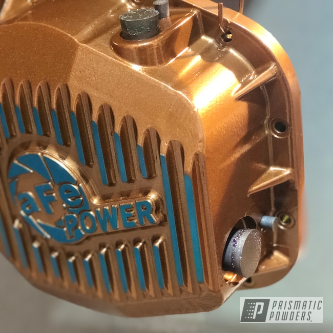 Powder Coating: HAWAIIAN TEAL UPB-1736,Automotive,Clear Vision PPS-2974,SUPER CHROME USS-4482,Diff Covers,AFE,Rust Glaze PPB-5539,Ford,Differential Covers