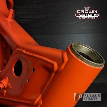 Orange Powder Coated Dir Bike Frame