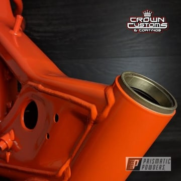 Orange Powder Coated Dir Bike Frame