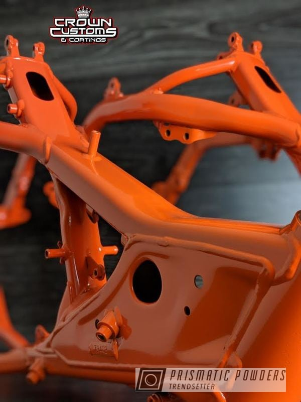 Powder Coated Orange Dirt Bike Frame