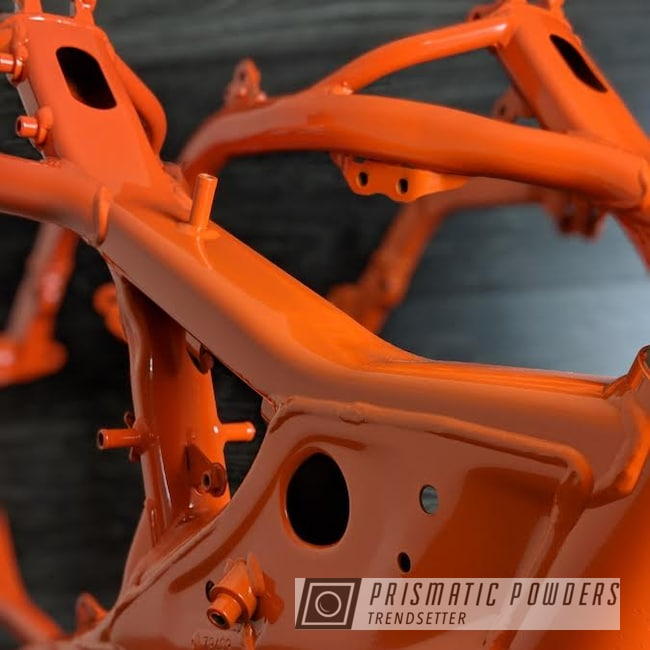 Powder Coating: RAL 2009 RAL-2009,Bike Frame,Dirtbike Frame,Motorcycles,Dirtbike,Frame,Dirt Bike