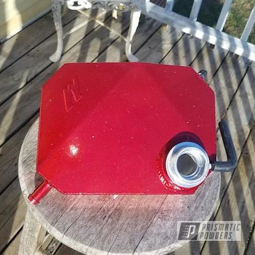 Powder Coated Red Auto Part