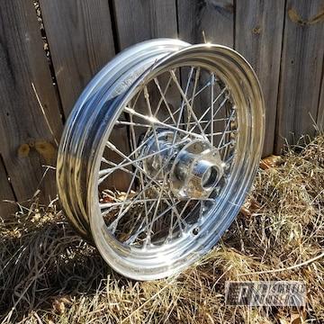 Powder Coated Harley Davidson Panhead Wheels