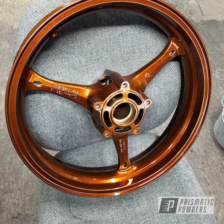 "Powder Coating: Wheels,Transparent Copper PPS-5162,SUPER CHROME USS-4482,17"" Wheels,GSXR,Suzuki,Motorcycles"