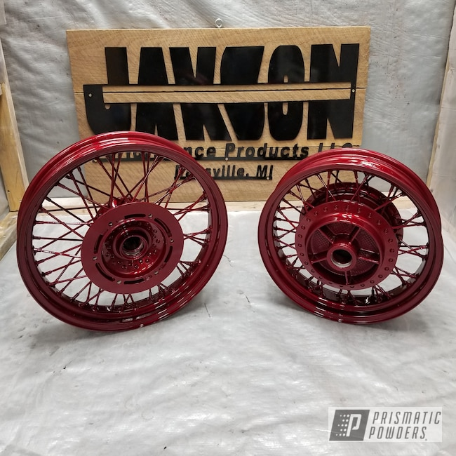 """Powder Coating: Shadow 750 Ace,15"""",Clear Vision PPS-2974,Honda,17"""" Wheels,Illusion Cherry PMB-6905,Motorcycles"""