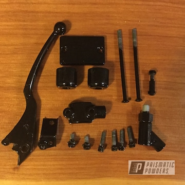 Powder Coated Black Suzuki Motorcycle Parts