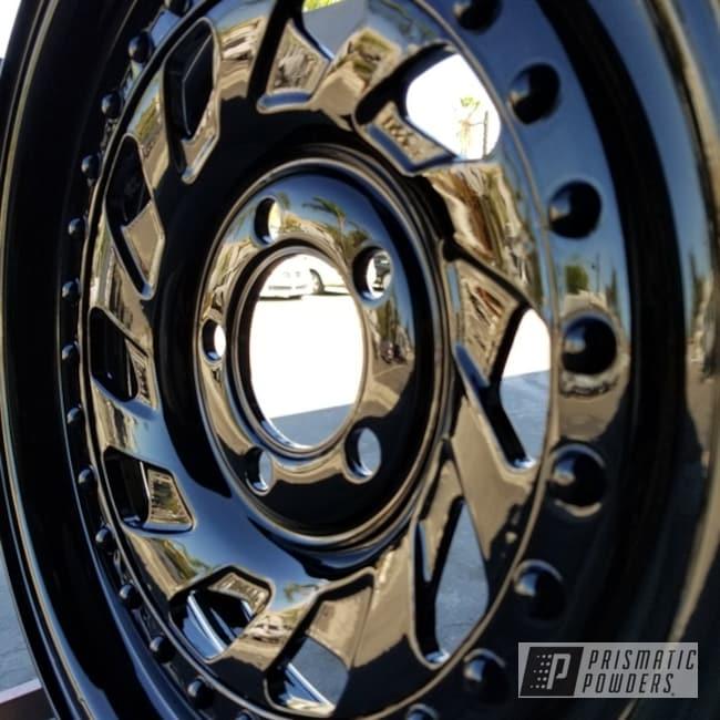 Powder Coating: Wheels,Automotive,Ink Black PSS-0106