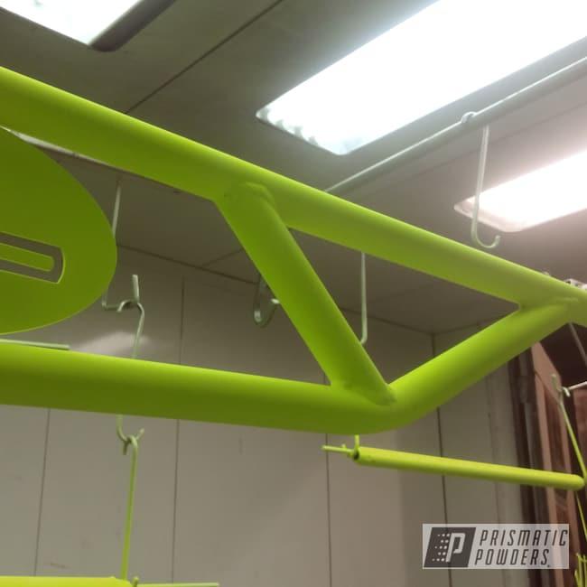 Powder Coating: Automotive,SUPER CHROME USS-4482,Lift Kit,Shocker Yellow PPS-4765