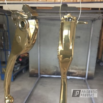 Powder Coated Gold Motorcycle Levers