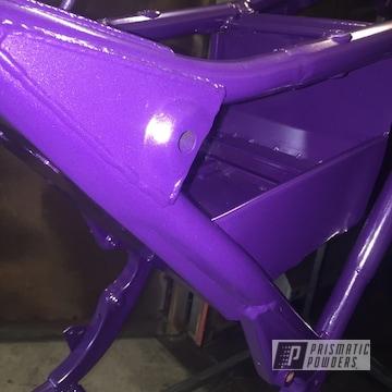 Powder Coated Purple Harley Davidson Frame
