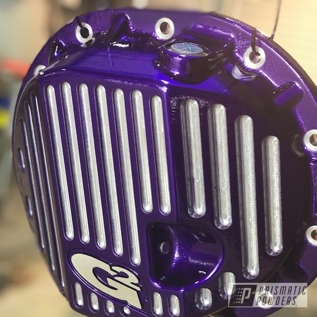 Powder Coating: Illusion Purple PSB-4629,Automotive,Clear Vision PPS-2974,g2,Differential Cover,Lifted Truck