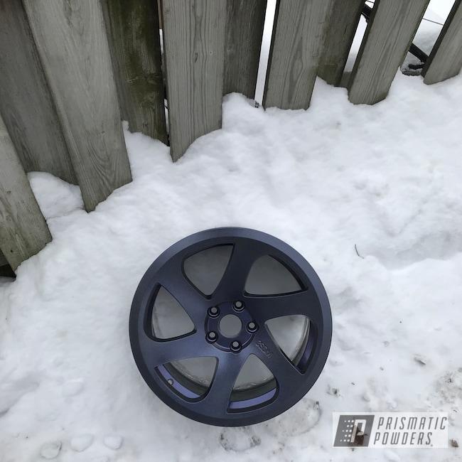 "Powder Coating: Wheels,18"",Automotive,Chameleon Violet PPB-5731,Powder Coated 18 Inch Wheels,STEALTH CHARCOAL PMB-6547,Purple wheels"