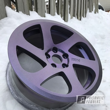 Powder Coated Purple Metallic 18 Inch Wheels