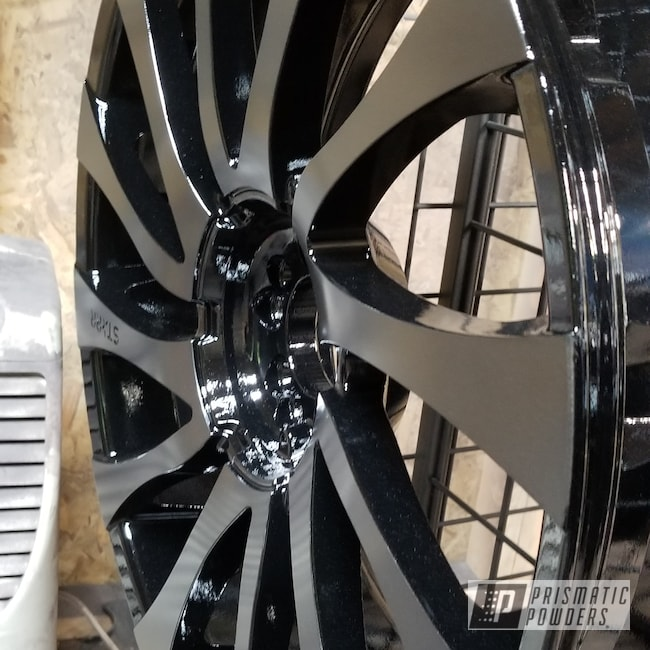 "Powder Coating: Wheels,Automotive,Impala,Ink Black PSS-0106,22"" Wheels,STEALTH CHARCOAL PMB-6547,Chevy"