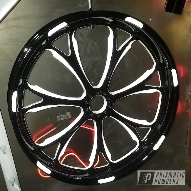 Powder Coating: Wheels,Automotive,Ink Black PSS-0106,Pearl Sparkle PMB-4130