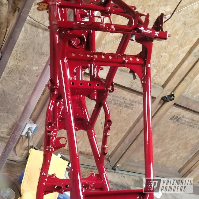 Powder Coating: Powder Coated Frame,Deep Red PPS-4491