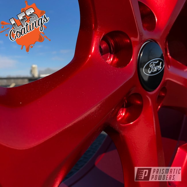 "Powder Coating: Wheels,18"",Automotive,SUPER CHROME USS-4482,St,Aluminium Wheels,Anodized Red PPB-5936,18"" Wheels,Focus,Ford"