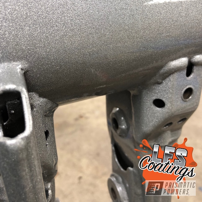 Powder Coating: Clear Vision PPS-2974,Heavy Silver PMS-0517,ATV,Swing Arm,ltr450,Suzuki