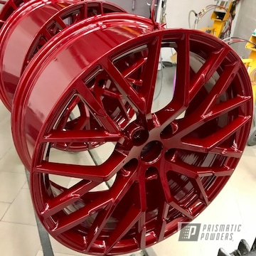 Powder Coated Red 20 Inch Audi R8 Wheels