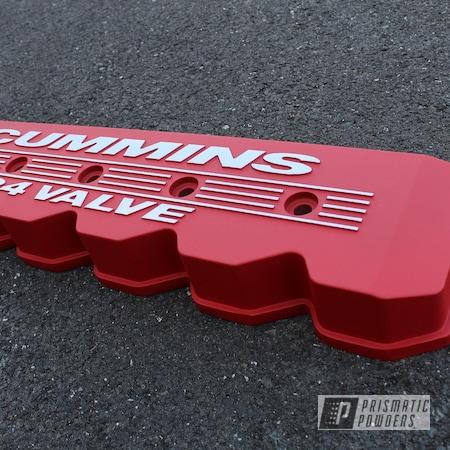 Powder Coating: Automotive,Monster Truck,Turbo RZR,Dodge Ram,Dodge,Cummins,Diesel,Burnt Red Texture PTS-6422,Valve Cover