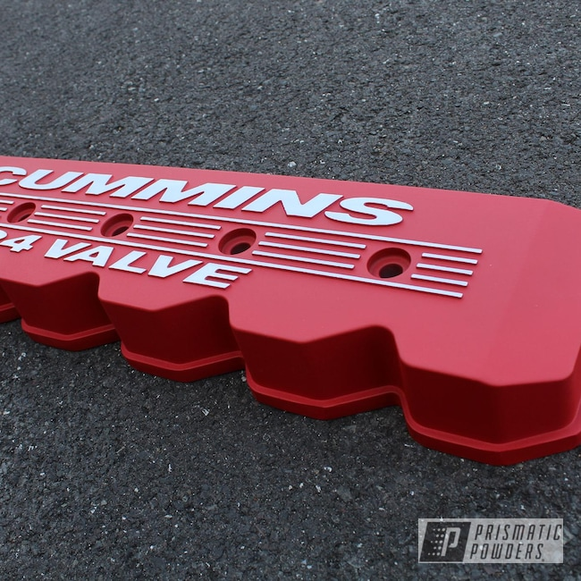 Powder Coating: Automotive,Monster Truck,Turbo RZR,Dodge Ram,Dodge,Cummins,Diesel,Burnt Red Texture PTS-6422,Valve Cover