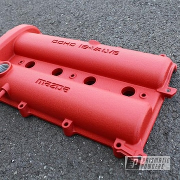 Powder Coated Red Texture Mazda Miata Valve Cover