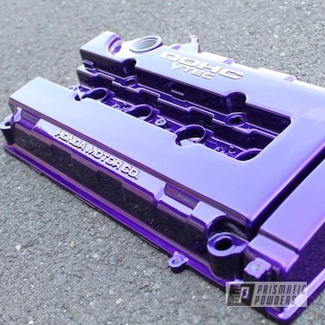 Powder Coated Candy Purple Honda Vtec Valve Cover