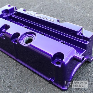 Powder Coated Candy Purple Honda Engine Cover