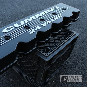 Powder Coated Black Dodge Cummins Valve Cover