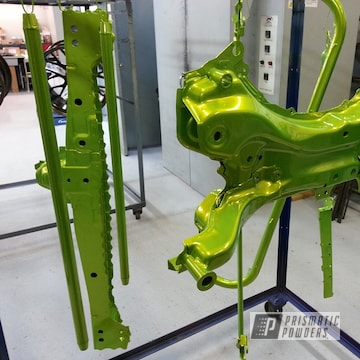 Powder Coated Candy Yellow Automotive Subframe