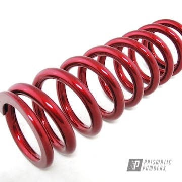 Powder Coated Candy Red Suspension Coil Spring