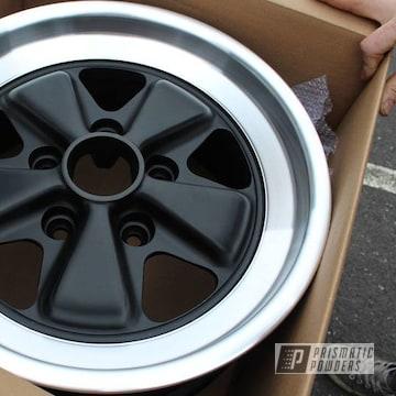 Powder Coated Black Porsche Wheels